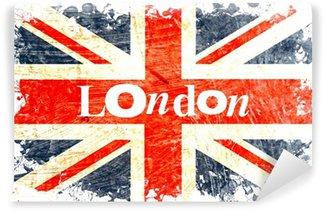 Vinylová Fototapeta Angličtina flag leptané london