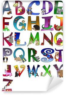 Vinylová Fototapeta Animal Themed Alphabet Poster - Z Plakát