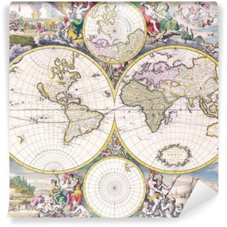 Vinylová Fototapeta Antique mapu