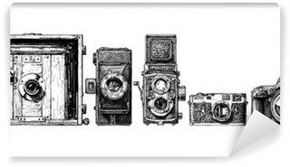 Fototapeta Winylowa Aparaty fotograficzne ewolucja ustawiony.