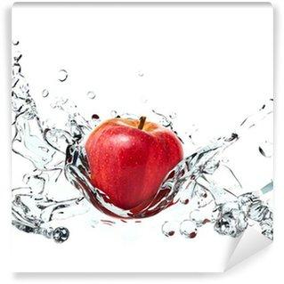 Vinylová Fototapeta Apple působit stříkající vodě