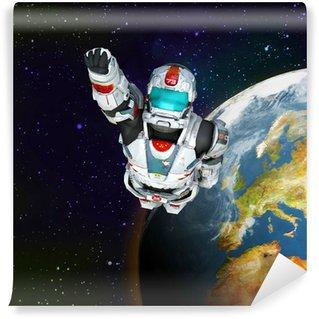 Vinylová Fototapeta Astronaut a hrdina - létání