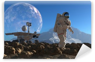 Vinylová Fototapeta Astronaut a moonwalker