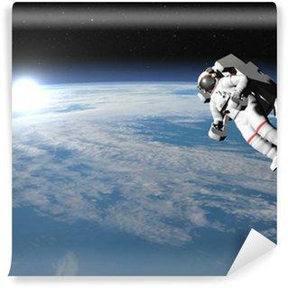 Vinylová Fototapeta Astronaut nebo kosmonaut létání na zemi - 3D vykreslování