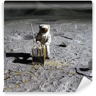Vinylová Fototapeta Astronaut sběru lunární artefakty