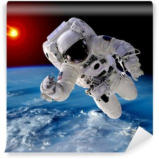 Vinylová Fototapeta Astronaut Spaceman Asteroid Meteorit