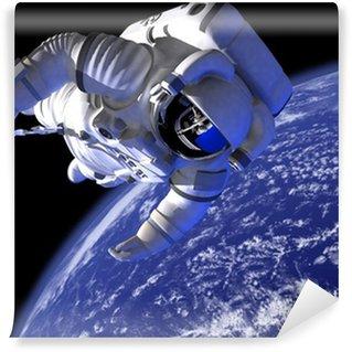 Vinylová Fototapeta Astronaut ve vesmíru proti světě