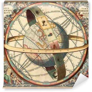 Vinylová Fototapeta Astronomický graf, Vintage