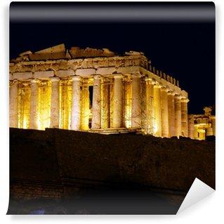 Vinylová Fototapeta Athény Acropolis Parthenon v noci