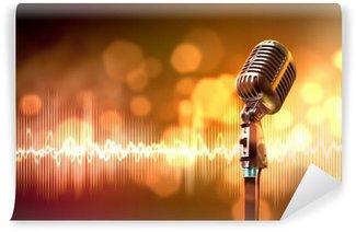 Vinylová Fototapeta Audio vstup pro mikrofon retro stylu