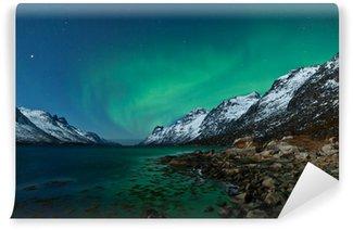Vinylová Fototapeta Aurora Boarealis odráží v oceánu