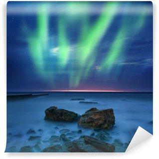 Vinylová Fototapeta Aurora borealis nad mořem
