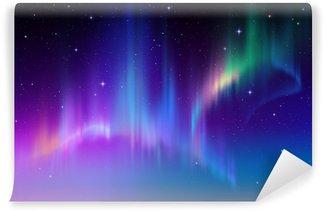 Vinylová Fototapeta Aurora Borealis v hvězdném polární oblohy, ilustrační