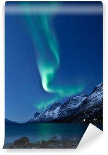Vinylová Fototapeta Aurora Borealis v Norsku, který se odráží