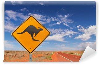Vinylová Fototapeta Australský nekonečné silnice