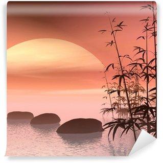Fototapeta Winylowa Azjatycka kroki do słońca - renderowania 3D