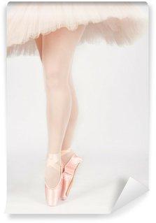 Vinylová Fototapeta Baletní tanečník stojí na nohou při tanci uměleckou conversi