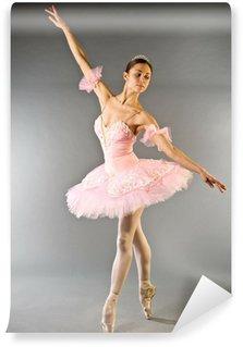 Vinylová Fototapeta Ballerina je prst taneční izolovaných