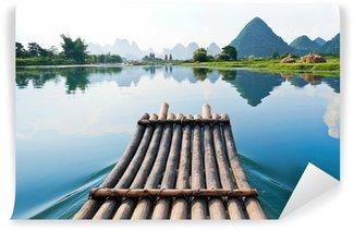 Vinylová Fototapeta Bamboo rafting na řece Li