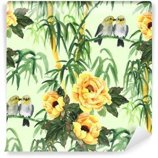 Fototapeta Winylowa Bamboo ręcznie rysowane