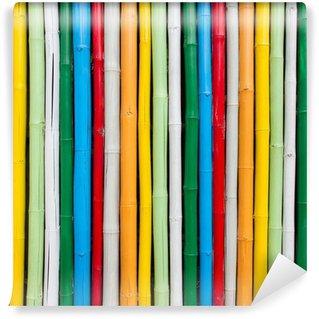 Fototapeta Winylowa Bambus na tle kolorowe