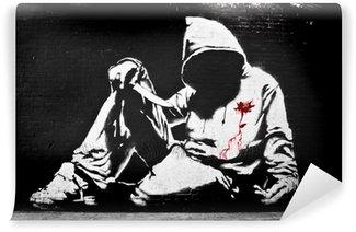 Vinylová Fototapeta Banksy Hoodie s nožem Graffiti