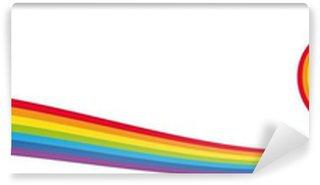 Vinylová Fototapeta Banner cuore Arcobaleno