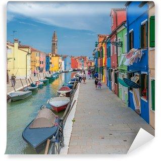 Vinylová Fototapeta Barevné domy Burano, Benátky, Itálie