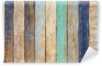 Vinylová Fototapeta Barevné dřevěné prkno