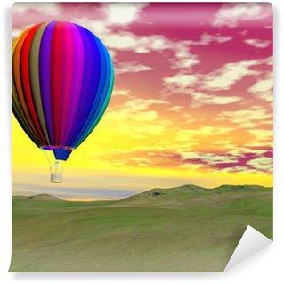 Vinylová Fototapeta Barevné horkovzdušný balón - 3D vykreslování