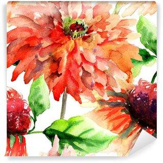 Vinylová Fototapeta Barevné letní pozadí s květinami