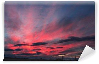 Vinylová Fototapeta Barevné mraky na obloze. Barva tónovaný obraz.