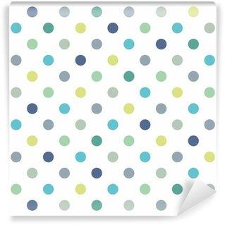Vinylová Fototapeta Barevné puntíky vektor Bílé bezešvé pozadí vzor