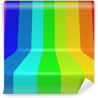 Vinylová Fototapeta Barevné spektrum maloval ohnuté vertikální pruhy