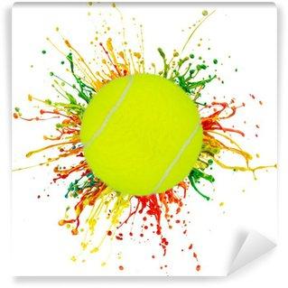 Vinylová Fototapeta Barevné šplouchnutí se sportovním míčem