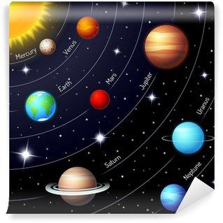 Vinylová Fototapeta Barevné vektorové sluneční soustava