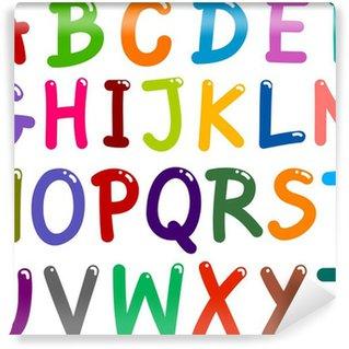 Vinylová Fototapeta Barevné velkými písmeny abecedy