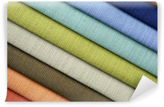 Vinylová Fototapeta Barevné vzorky tkaniny v obchodě