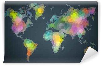 Vinylová Fototapeta Barevné World Diversity Mapa