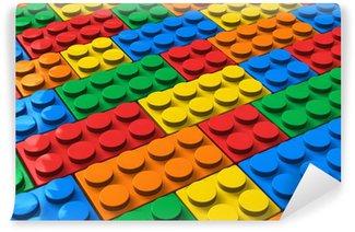 Vinylová Fototapeta Barva stavební bloky
