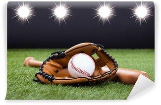 Vinylová Fototapeta Baseball rukavice s baseball a Bat