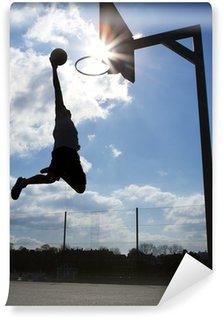 Vinylová Fototapeta Basketbalový hráč Dunk Silhouette