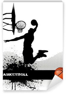 Vinylová Fototapeta Basketbalový zápas na pozadí grunge