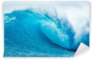 Vinylová Fototapeta Beautiful Blue Ocean Wave