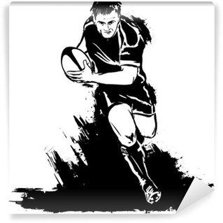 Vinylová Fototapeta Běh rugby s míčem