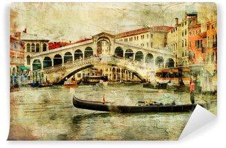Vinylová Fototapeta Benátky, most Rialto - umělecký obraz