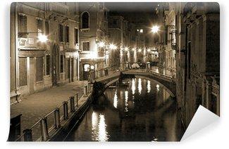 Vinylová Fototapeta Benátky v noci