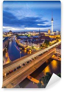 Vinylová Fototapeta Berlín, Německo Skyline Scene
