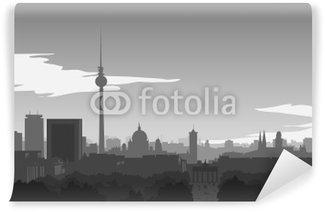 Vinylová Fototapeta Berlín Skyline ilustrace
