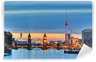 Vinylová Fototapeta Berlin televizní věž Oberbaumbrücke